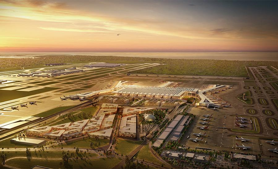 ISTANBUL NEW AIRPORT STEEL FIRE PAINTS